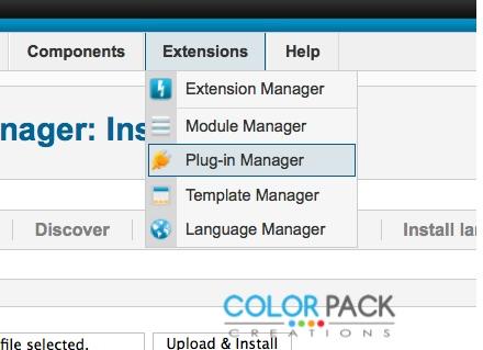 ไปที่ Extensions >> Plug-in Manager
