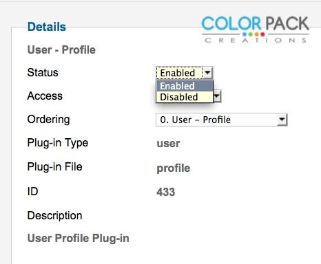 ทำการเปิดให้ Plug-in User-Profile ของ Joomla! ทำงาน